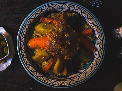 Salade de poulet et merguez façon couscous*