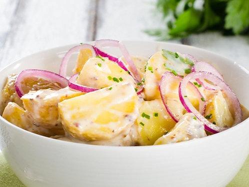Salade  de bretonne ( pomme de terre, oignons rouges et choux fleurs)