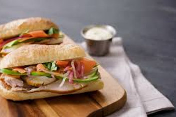 Sandwich dinde crudité