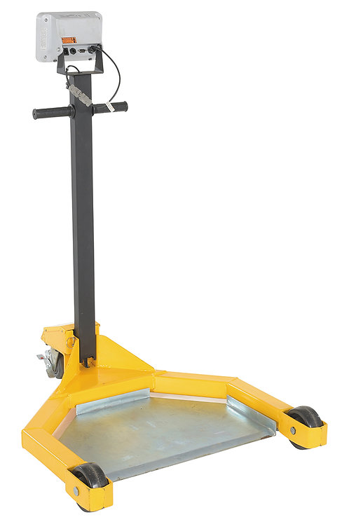 Lo-Profile Drum Caddie with Scale 800 lbs. Capacity