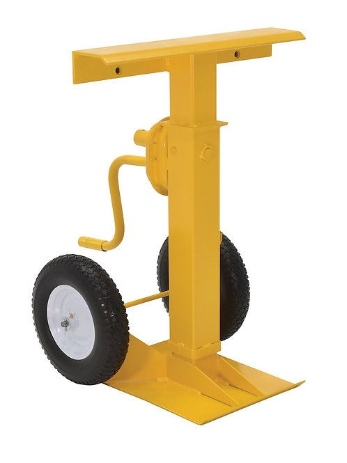 50k Lift Capacity Hand Crank Foam Wheel Trailer Stabilizing Jack