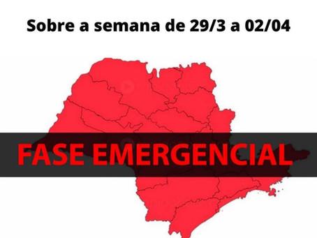 Fase emergencial - Atualização