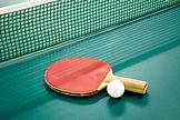 Paleta y pelota de ping pong