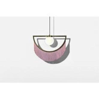 Lámpara Wink rosa/ dorado Houtique