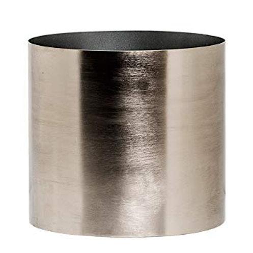 Maceta metal plateada Bloomingville