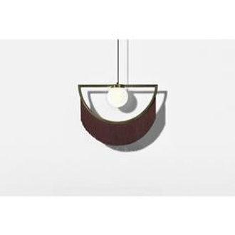 Lámpara Wink marrón/ dorada Houtique
