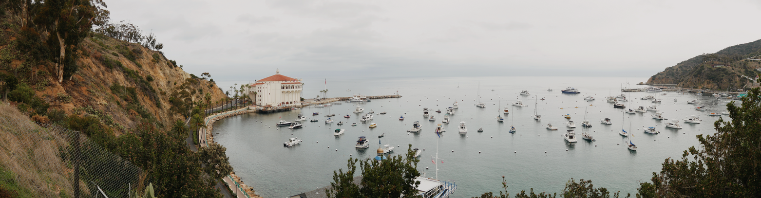 Panorama of the Avalon Bay
