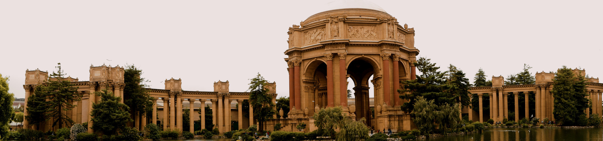 Panorama of the San Francisco  Palace of