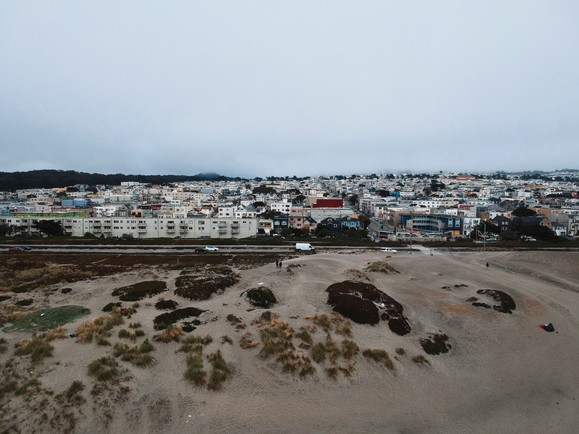 View of San Francisco from Ocean Beach,