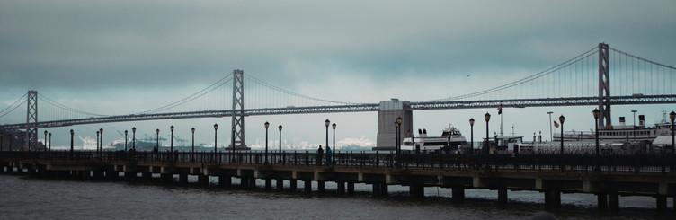 Panorama of the Bay Bridge, San Francisc