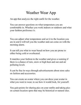 Weather App Design 3