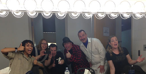 BPAC cast in dressing room