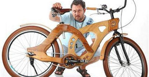 Дървен арт велосипед от България