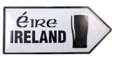 Metal Ireland / Éire Road Sign