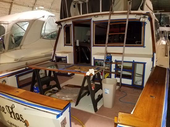 Yacht Teak Trim Refinishing - 41' Egg Harbor