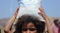 Food supplies deliver to IDPs in Sana'a