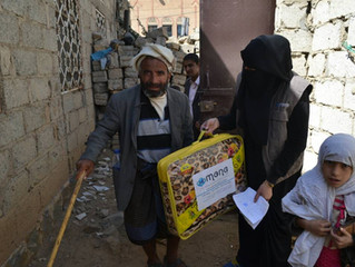 Monareliefye.org delivering blankets and winter clothing to most needy families in Sanaa