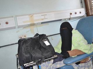 Monareliefye.org delivers hygiene kits to kidney failure patients at al-Thawra Hospital in Sanaa