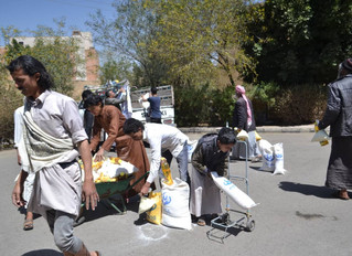 Monareliefye.org delivers food aid packages toJewish minority members in Sanaa