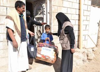 منظمة منى توزع 80 بطانية و80 حقيبة كرامة في مديرية بني الحارث صنعاء