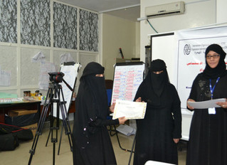 20 volunteers from Mona Relief receiving training on Child protection