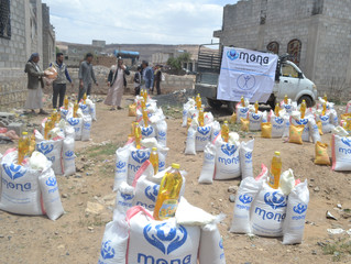 Monareliefye.org delivers food aid baskets funded by Humanity First Org to IDPs and most vulnerable