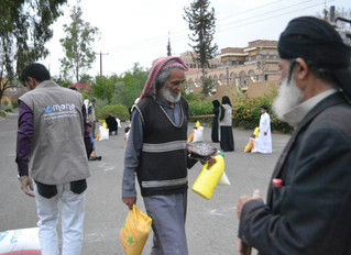 Monareliefye.org delivering for the 3rd time food aid baskets to Jewish community's members in Sana'