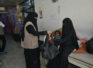 منظمة منى للاغاثة تقدم 250 حقيبة صحية للمرضى بمستشفى السبعين بدعم من المنظمة الدولية للهجرة