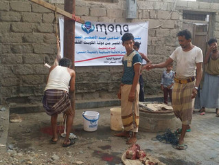 Monareliefye.org distributed qurbani in Hodeidah and Sanaa for two days