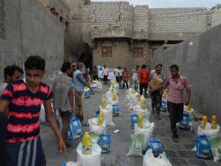 Monareliefye.org distributes food baskets in Hodeidah