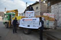 منظمة منى بالتعاون مع منظمة خالصة ايد البريطانية تنفذان اول مشروع اغاثي في اليمن بتوزيع 250 سلة غذائ
