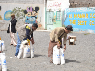 Monareliefye.org delivers Jewish members in Sana'a monthly food aid baskets