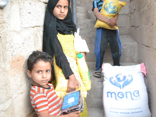 Monareliefye.org continues for the seventh day distributing Ramadan food aid baskets in Sana'a