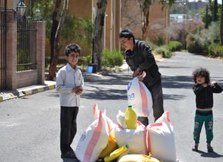 منظمة منى تقدم مساعدات غذائية لابناء الطائفة اليهودية في اليمن