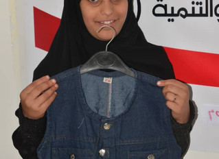 Monareliefye.org distributes Eid al-fitr clothes to 260 orphans in Sana'a funded by anonymous Ku
