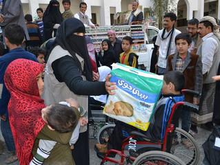 100 handicapped in Sawan area in Sana'a receive hygiene kits from Mona Relief Yemen