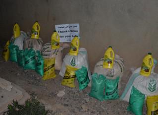 منظمة منى تقوم للمرة الثانية باستهداف الاسر النازحة في محافظة عمران بالمساعدات الغذائية