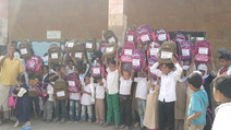 100 students received school backpacks in Hodeidah
