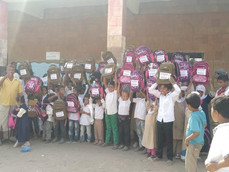100 students received school backpacks in Hodeidah