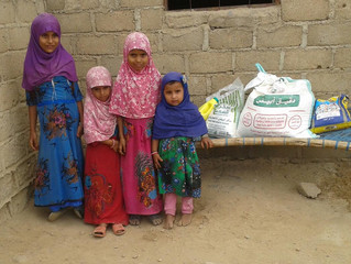 Handful of families in Hajjah & Mahweet provinces receiving food packages
