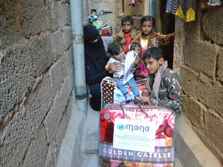 blankets and winter clothing delivering by Mona Relief to most vulnerable families in Sana'a