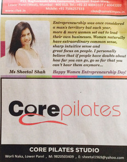 Core Pilates in the news