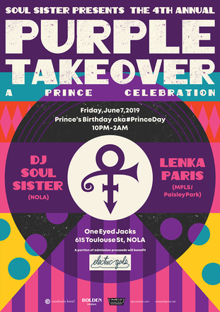 'Purple Takeover' Party Poster