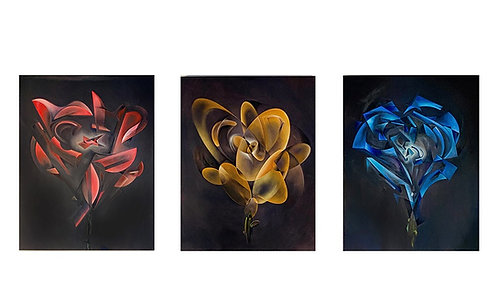 MGRA Rose Ltd. Edition Triptych Giclee Prints (3)