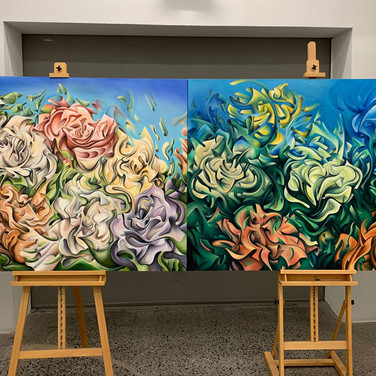 FLOWERS XYZ I, II - NATURE SERIES (OILS)