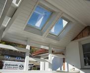 Dachfenster und Innenverkleidung