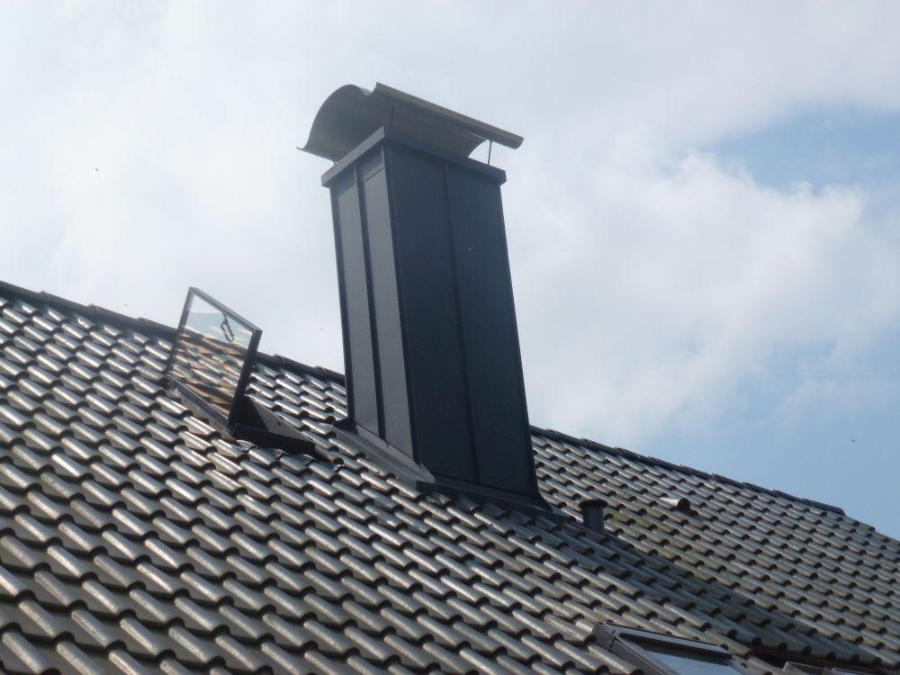 Schornstein Stehfalz Aluminium schwarz