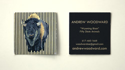 Wyoming Bison Business Card