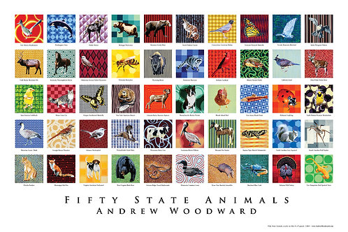 Fifty State Animals Poster