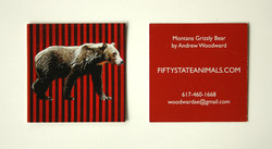 Montana Grizzly Business Card
